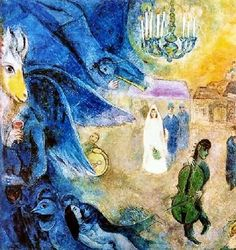 The Wedding candles by Marc Chagall