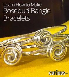 How to Make Rosebud Bangle Bracelets