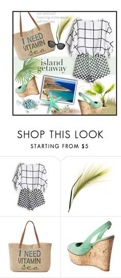 """""""Chic Island Getaway"""" by youaresofashion ❤ liked on Polyvore featuring SONOMA Goods for Life, Victoria Beckham and islandgetaway"""