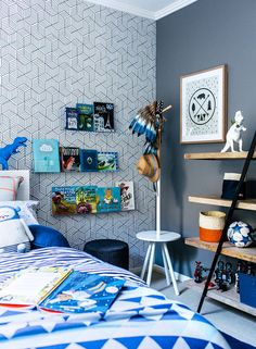Boys room MOODY CONTEMPORARY interior by Little Liberty — Adore magazine
