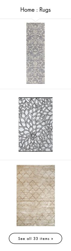 """""""Home : Rugs"""" by topazleann on Polyvore featuring home, rugs, floral runner, modern rugs, gray area rug, floral rug, gray rug, moroccan style rugs, floral outdoor rugs and moroccan rug"""