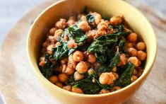 Espinacas con Garbanzos is a type of tapa from the Andalusian region which is prepared with spinach (espinacas) and chickpeas (garbanzos), it seems to be an odd combination but wait till you try them.