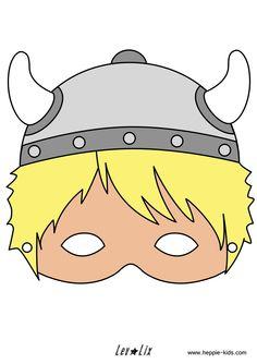 Masker van een viking, leuk voor een feestje of speurtocht. Tevens verkrijgbaar in zwart/wit.
