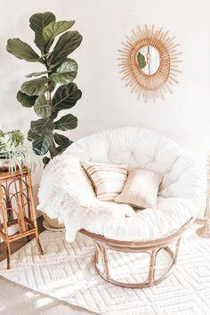 Cute Bedroom Decor, Room Ideas Bedroom, Bedroom Inspo, Cute Room Ideas, Boho Room, Aesthetic Room Decor, My New Room, Room Inspiration, Papasan Chair