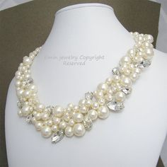 Wedding Jewelry Pearl and Crystal Bridal by exquisitebride on Etsy, $128.00