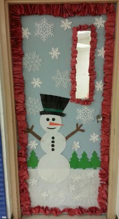Winter door for the classroom.