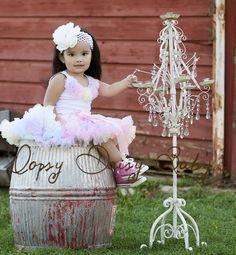 Oopsy Daisy Baby Pink Rainbow pettiskirt