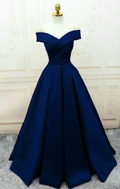Trendy prom dresses - Off the shoulder navy long prom dresses evening gowns – Trendy prom dresses Dresses Elegant, Pretty Prom Dresses, A Line Prom Dresses, Ball Dresses, Long Dresses, Sexy Dresses, Summer Dresses, Wedding Dresses, Awesome Dresses