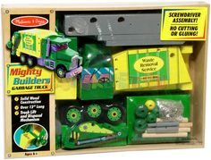 Build your own garbage truck. one of a kind. for boys adoring the combination of assembly and garbage :)