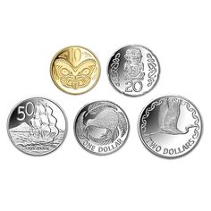2012 New Zealand Silver Currency Set One Dollar, Dollar Coin, Teaching Money, Money Worksheets, Two Dollars, New Zealand Houses, Nz Art, Kiwiana, World Coins