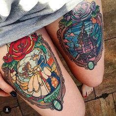 Disney Stained Glass tattoo
