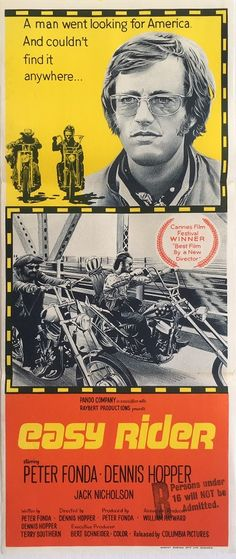 Easy Rider posters for sale online. Buy Easy Rider movie posters from Movie Poster Shop. We're your movie poster source for new releases and vintage movie posters. Cinema Posters, Concert Posters, Film Posters, Movies And Series, Cult Movies, Jack Nicholson, Great Films, Good Movies, Biker Movies