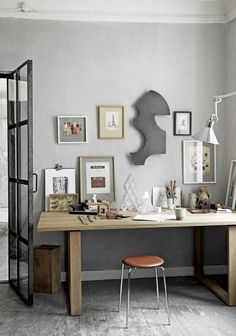 Home office or a creative private space? Mix our wall sculptures with your personal decorations. Clout sculpture in dark patinated zinc. Office Workspace, Home Office, Danish Interior, Compact Living, Wall Sculptures, Room Interior, Wall Design, Interior Inspiration, Sweet Home