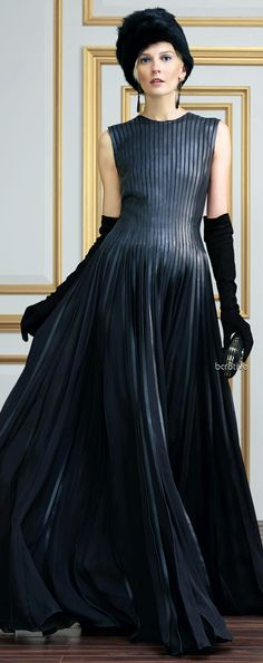 Ralph Lauren Leather-Trim Andrei Gown from FW 2013-14