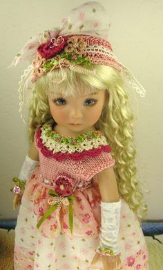 """Dianne Effner Little Darling 13"""" Doll OOAK Outfit """"A Rose Is A Rose"""" by Janet   eBay"""