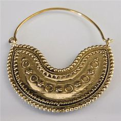 Beautiful Indian Brass Hoops Earrings  Tribal Jewelry  by RONIBIZA