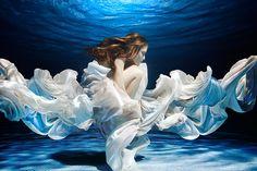 Underwater fashion photography by Perter De Mulder.