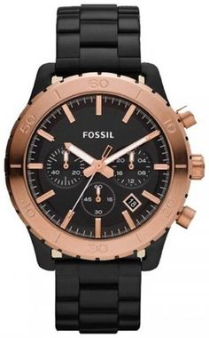 6113eb1bea2 Fossil CH2817 Keaton Black with Rose Stainless Steel Band Men Watch Fossil.   114.28 Fossil Watches
