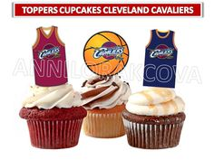 Printable Cleveland Cavaliers , BASKETBALL sports Team Cleveland Cavaliers Cupcake Topper, digital file, Circle Favor Tags, U Print 50%OFF by ANNILORACK on Etsy