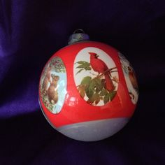 1977 Natures Christmas Glass Ornament by VisualaromasVintage