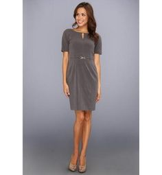 Ellen Tracy Casual Grey Dress 12