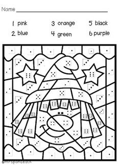 Halloween Color by Code This packet color by code Halloween pictures - children get to identify dice to dice 6 Color by code Halloween pictures - children get to identify number to dice. Halloween Color By Number, Theme Halloween, Halloween Math, Halloween Costumes, Preschool Learning Activities, Classroom Activities, Preschool Worksheets, Halloween Crafts For Toddlers, Halloween Activities