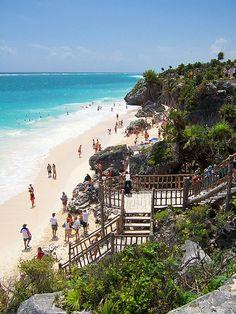 Cancun, Mexico. Tulum Beach