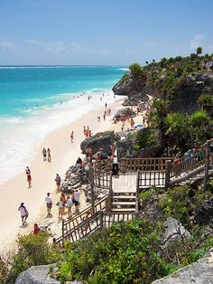 Cancun, Mexico. Tulum Beach--I've been to this beach!