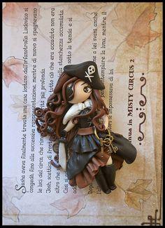 MUñeca pirata en polymer clay