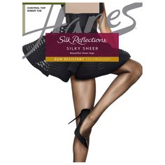 Silk Reflections® Silky Sheer Control Top Tights with Run-Resistant Technology