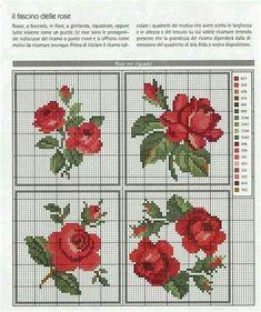 Cross Stitch Rose, Cross Stitch Flowers, Cross Stitch Charts, Counted Cross Stitch Patterns, Cross Stitch Designs, Cross Stitch Embroidery, Hand Embroidery, Embroidery Patterns Free, Beading Patterns