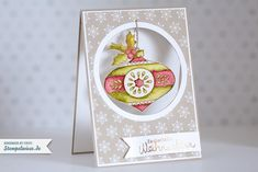 Stampin' Up! - Weihnachtskarte - Christmas Bauble - Christmas Card ❤ Stempelwiese