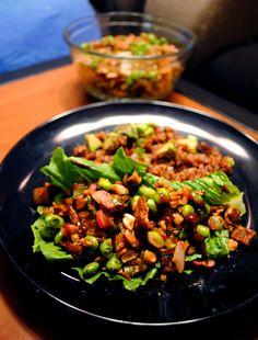 Edamame tofu lettuce wraps