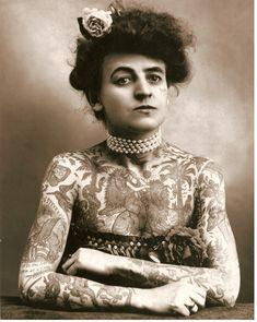 First female tattoo artist in the U.S. (1911) - Imgur