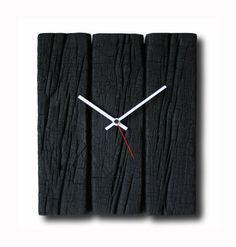 Burned wood clock, Home decor, Original clock, Hand made clock, design clock…