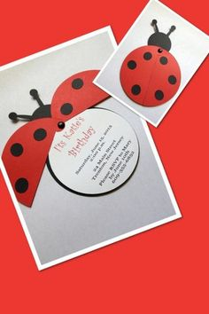 Texte Carte D'invitation Anniversaire originale Fresh Carte D Invitation Anniver… – invitation Personalized Invitations, Diy Invitations, Invitation Cards, Birthday Invitations, Scrapbooking Original, Ladybug Party, Kids Birthday Cards, Paper Cards, Kids Cards