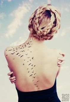 5. The Back - 13 Very Feminine #Spots for a Tattoo ... → #Lifestyle #Feminine