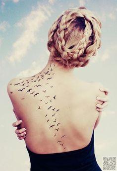 5. The Back - 13 Very Feminine #Spots for a Tattoo ... → #Lifestyle #Feminine