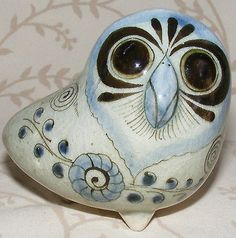 Vintage Mexican Mexico TONALA JALISCO Pottery OWL Signed