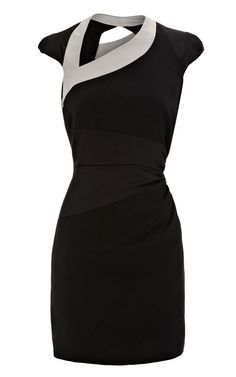 Karen Millen Asymmetric Body Con Black Dresses Sale.