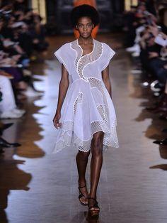 Clotilde short-sleeved embroidered dress | Stella McCartney | MATCHESFASHION.COM US