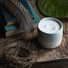 Sun Bleached Denim Ceramic Scented Candle by The Candle Library | Zanui