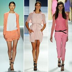 Pastels on the catwalk