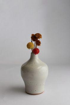Handmade Pottery Stem Vase