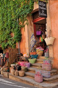Beautiful french baskets and bags.