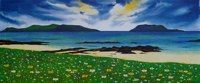 "Machair flowers<br />18"" x 8"""