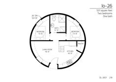 Floor Plan: DL-2601 | Monolithic Dome Institute