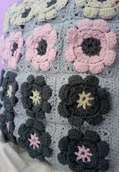 NoMimikry: Granny Flower Squares - Anleitung auf englisch und deutsch