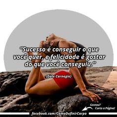 """""""Sucesso é conseguir o que você quer, e felicidade é gostar do  que você conseguiu."""" ✌ (Dale Carnegie)  NA BOA, PRA QUE PERDER TEMPO... Invista seu tempo naquilo que realmente funciona: ➡ https://SegredoDefinicaoMuscular.com/ #boanoite #Goodnight #DaleCarnegie #inspiração #inspiration #ComoDefinirCorpo"""