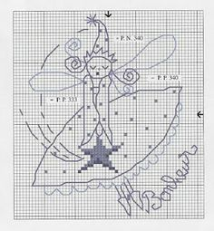 cross stitch pattern fairy Elfe sticken